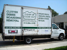 Clean Up Clear Out truck